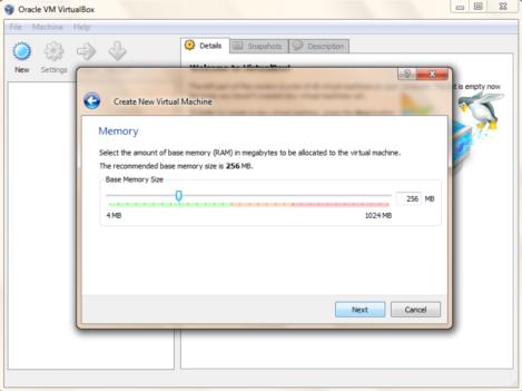 Virtual Box- New Linux-memory